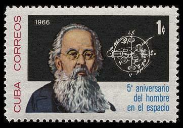 Livres : quelques livres de Tsiolkovsky Cuba_1966_1204_01