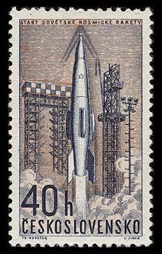 Astrophilatélie soviétique et pays de l'Est - Page 3 Czeskoslovakia_1962_space_040