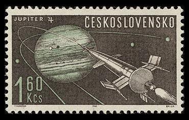 AstroPhilathélie - Page 9 Czeskoslovakia_1963_space_mi_1400