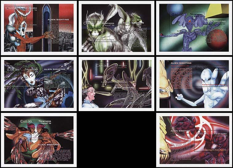 AstroPhilathélie - Page 5 Nicaragua_1994_aliens_bl214-221