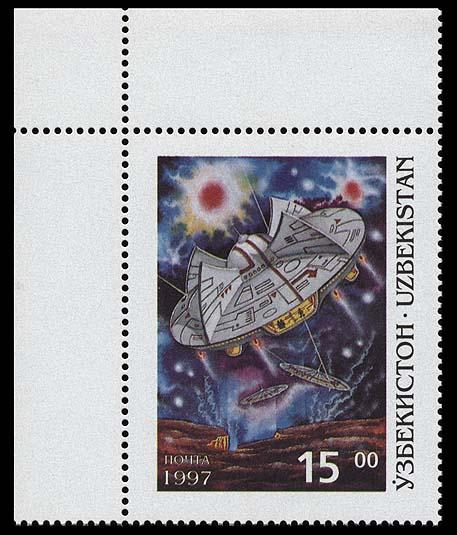 Astrophilatélie soviétique et pays de l'Est - Page 3 Uzbekistan_1997_space_and_fantasy_15_3