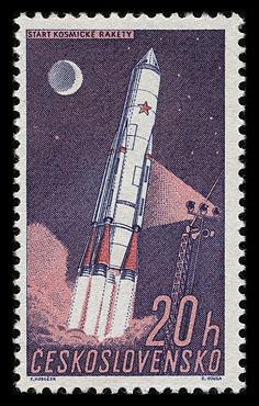 Robert McCall est mort à l'âge de 90 ans Czeskoslovakia_1961_space_mi_1252