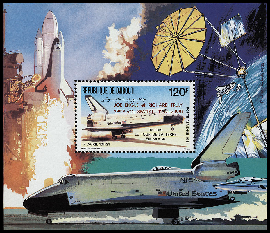 AstroPhilathélie - Page 9 Djibouti_1981_shuttle_mi_block_51a