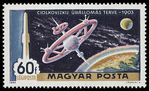 Astrophilatélie soviétique et pays de l'Est - Page 5 Hungary_1969_space_mi_2548a