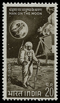 AstroPhilathélie - Page 10 India_1969_moon_mi_487