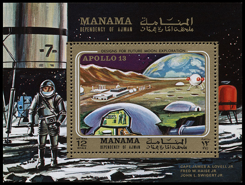 AstroPhilathélie - Page 9 Manama_1970_apollo_13_mi_block_63a