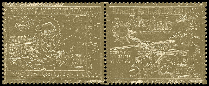 AstroPhilathélie - Page 9 Mauritania_1974_space_mi_481_482