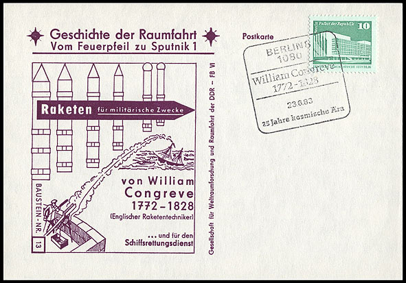 Astrophilatélie soviétique et pays de l'Est - Page 5 Postcard_ddr_1982_25_sputnik_13