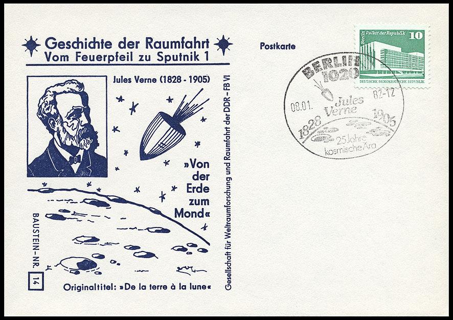 Astrophilatélie soviétique et pays de l'Est - Page 5 Postcard_ddr_1982_25_sputnik_14