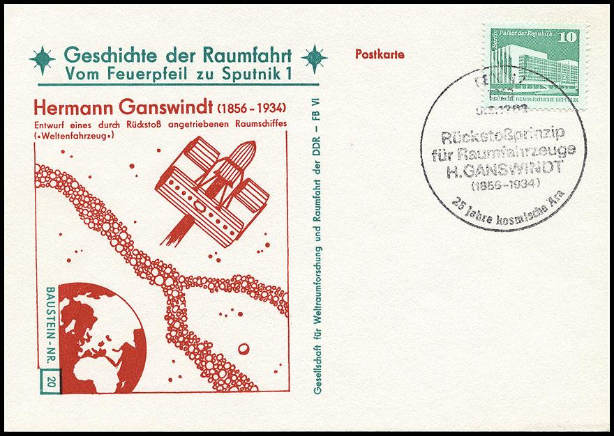Astrophilatélie soviétique et pays de l'Est - Page 5 Postcard_ddr_1982_25_sputnik_20