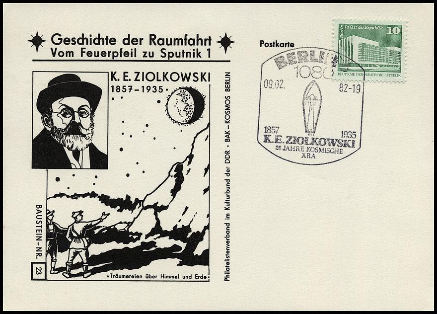 Astrophilatélie soviétique et pays de l'Est - Page 5 Postcard_ddr_1982_25_sputnik_23