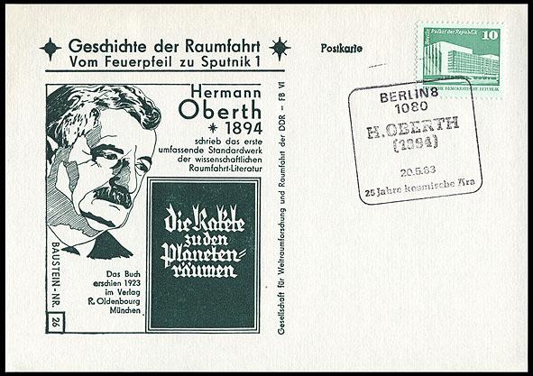 Astrophilatélie soviétique et pays de l'Est - Page 5 Postcard_ddr_1982_25_sputnik_26