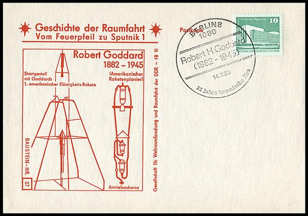 Astrophilatélie soviétique et pays de l'Est - Page 5 Postcard_ddr_1982_25_sputnik_27