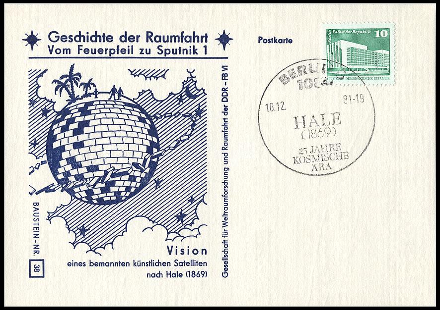 Astrophilatélie soviétique et pays de l'Est - Page 5 Postcard_ddr_1982_25_sputnik_38