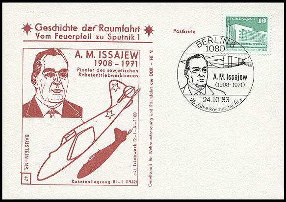 Astrophilatélie soviétique et pays de l'Est - Page 5 Postcard_ddr_1982_25_sputnik_47